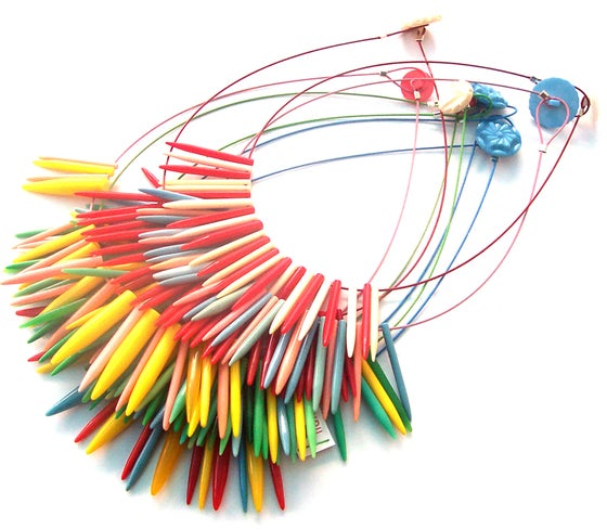 Image of Knitwit Knitting Needle Necklace