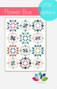 Image of flower box quilt pattern PDF