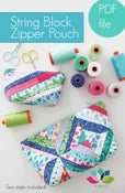 Image of string block zipper pouch in two sizes PDF file