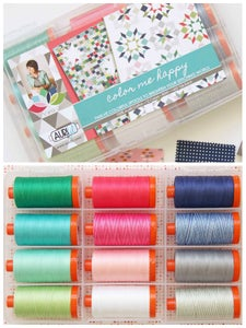 Image of large spool aurifil color me happy thread