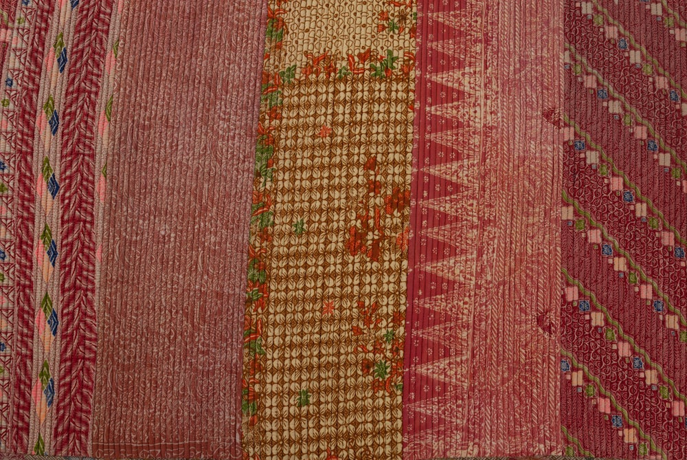 Image of Multi Color Ralli Kantha Rug