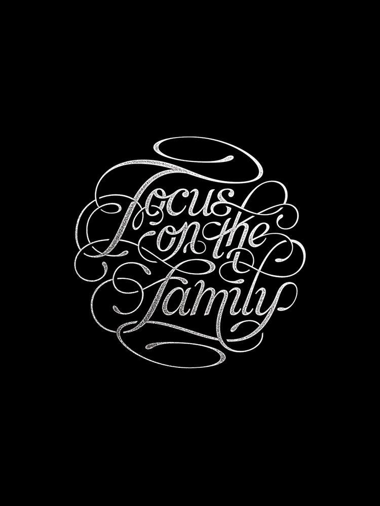 Image of 'Focus on the Family' Black & White - 18 x 24