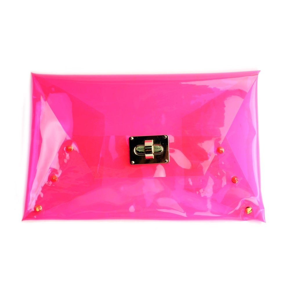 Image of Pink Gold Spiked Clutch