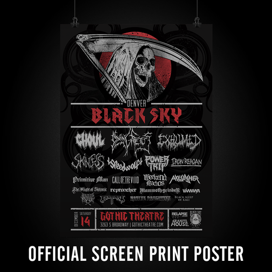 Image of Denver Black Sky Official Poster