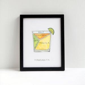 Margarita Cocktail Print by Alyson Thomas of Drywell Art. Available at shop.drywellart.com