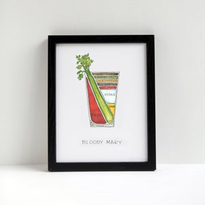 Bloody Mary Cocktail Print by Alyson Thomas of Drywell Art. Available at shop.drywellart.com