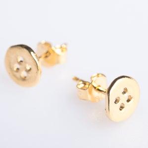 Image of Oorstekers zilveren knoopje - geel verguld,  juwelen verkrijgbaar in Antwerpen
