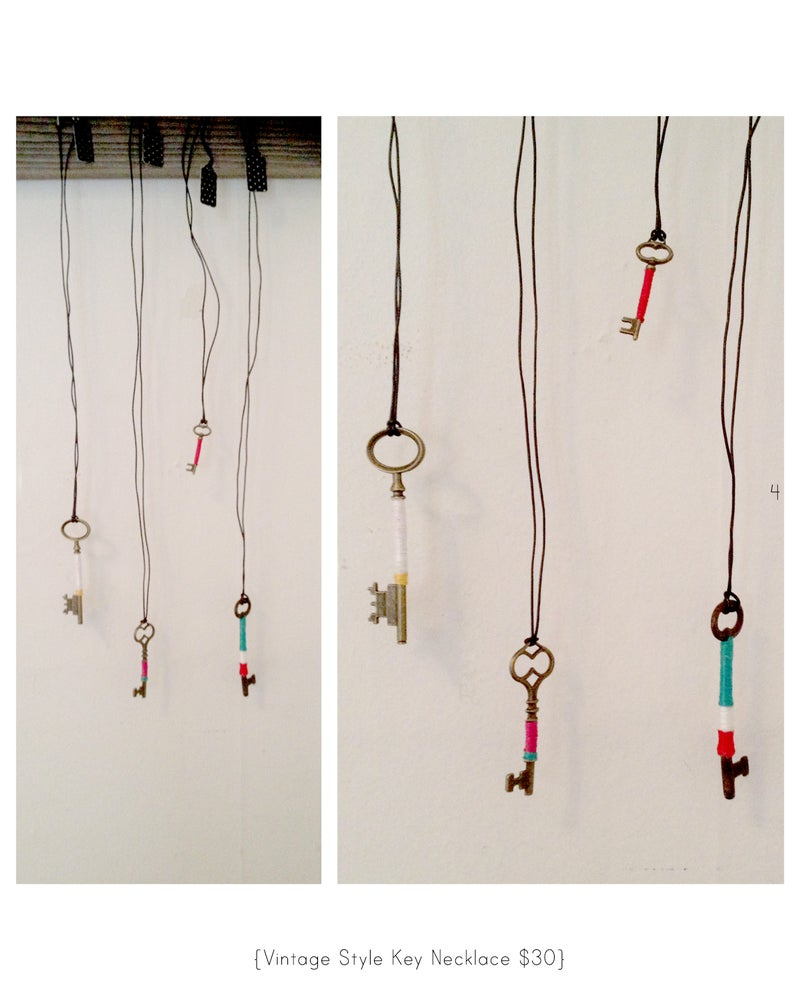 Image of wrapped vintage key necklace