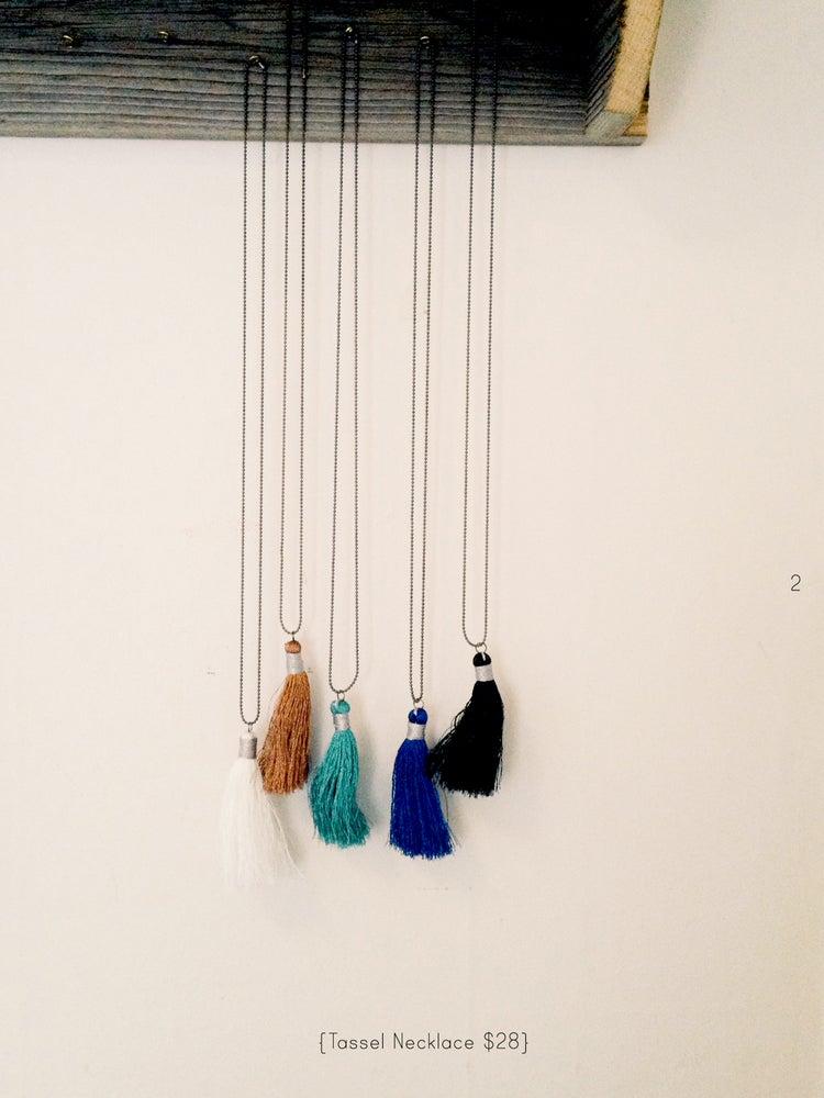 Image of tassel necklace