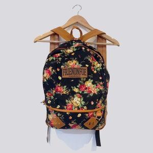 Image of The Black Floral Backpack