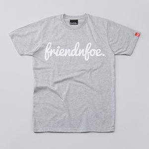 Image of The white on grey logo shirt