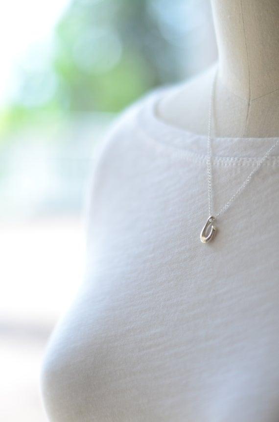 Image of Makau Hawaiian Fish Hook Necklace Silver