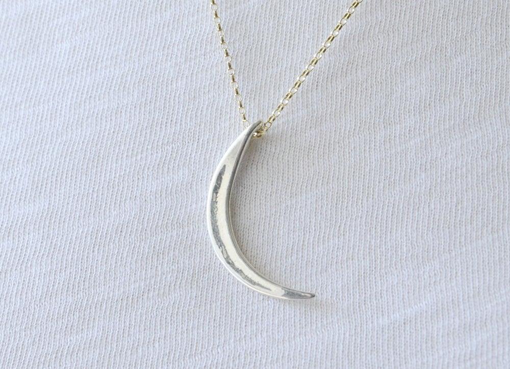 Image of Koa Phyllode Necklace Mixed Metal