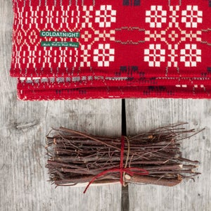 Image of Welsh Wool coldatnight Blanket in Berry Red