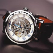 Image of Men's Watch / Vintage Watch / Handmade Watch / Leather Watch / Mechanical Watch (WAT0041-4)