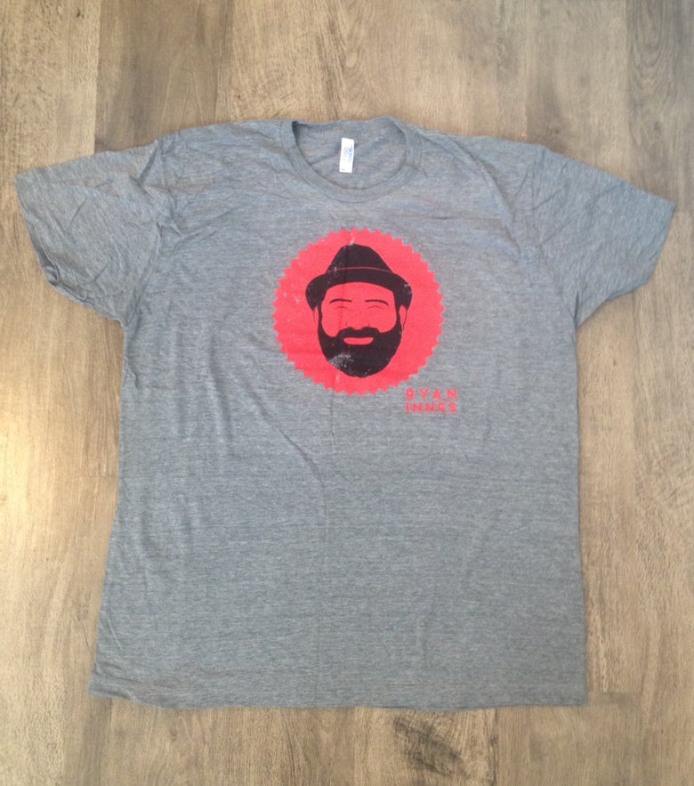 Image of Grey & Neon Red T-Shirt