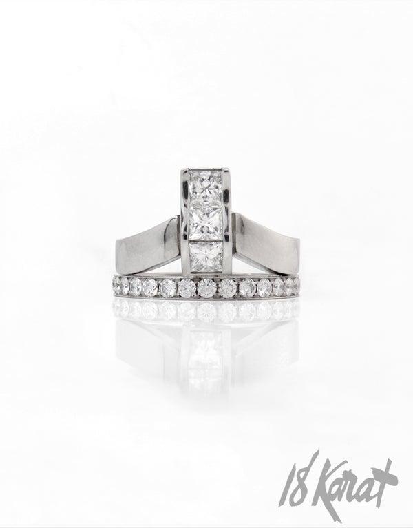Ripple Engagement Ring - 18Karat Studio+Gallery