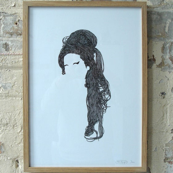 Image of Mr Bingo 'Amy' Black Edition Silkscreen