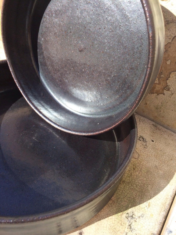 Image of [Set of 2] Black Trays