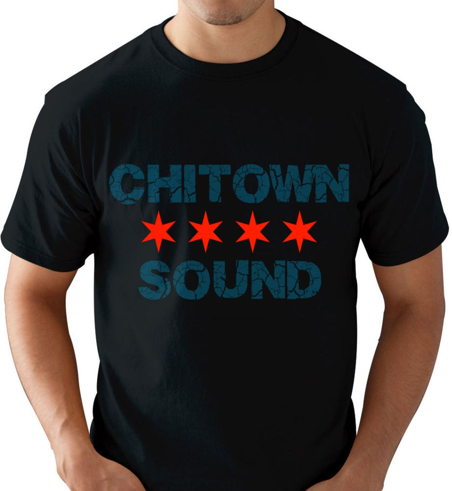 Chi town sound black blue red t shirt sponline Chi town t shirts