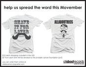 "Image of ""movember"" benefit shirt"