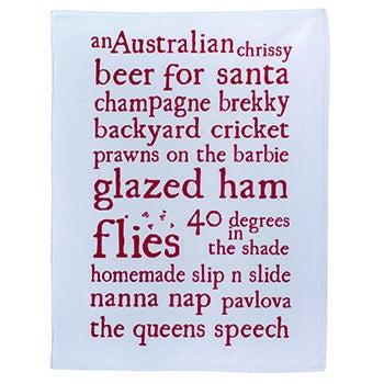 Image of Australian Chrissy tea towel