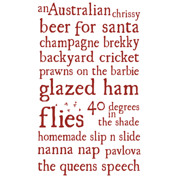 Image of Australian Chrissy tea towel
