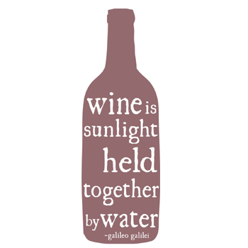 Image of wine is sunlight tea towel