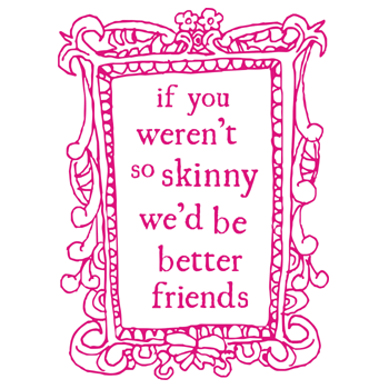 Image of so skinny tea towel