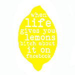 Image of 'when life gives you lemons' tea towel