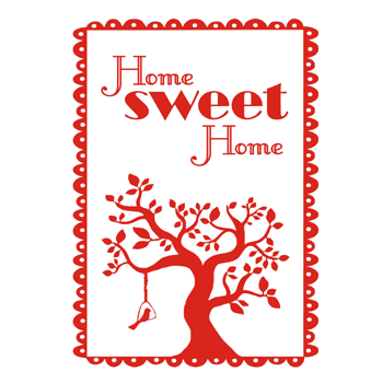 Image of home sweet home tea towel