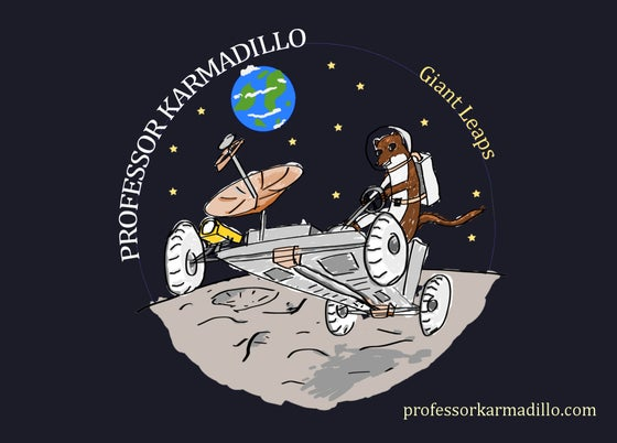 Image of Professor Karmadillo - Giant Leaps - Postcard with artwork + download code