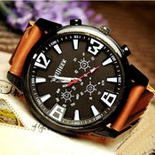 Image of Handmade Watch / Vintage Watch / Wrist Watch / Leather Watch / Men's Quartz Watch (WAT018)