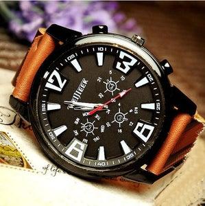 Image of Handmade Watch / Vintage Watch / Wrist Watch / Leather Watch / Men's Quartz Watch (WAT018)