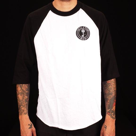 Image of Black Dot- Raglan 3/4 Sleeve T Shirt