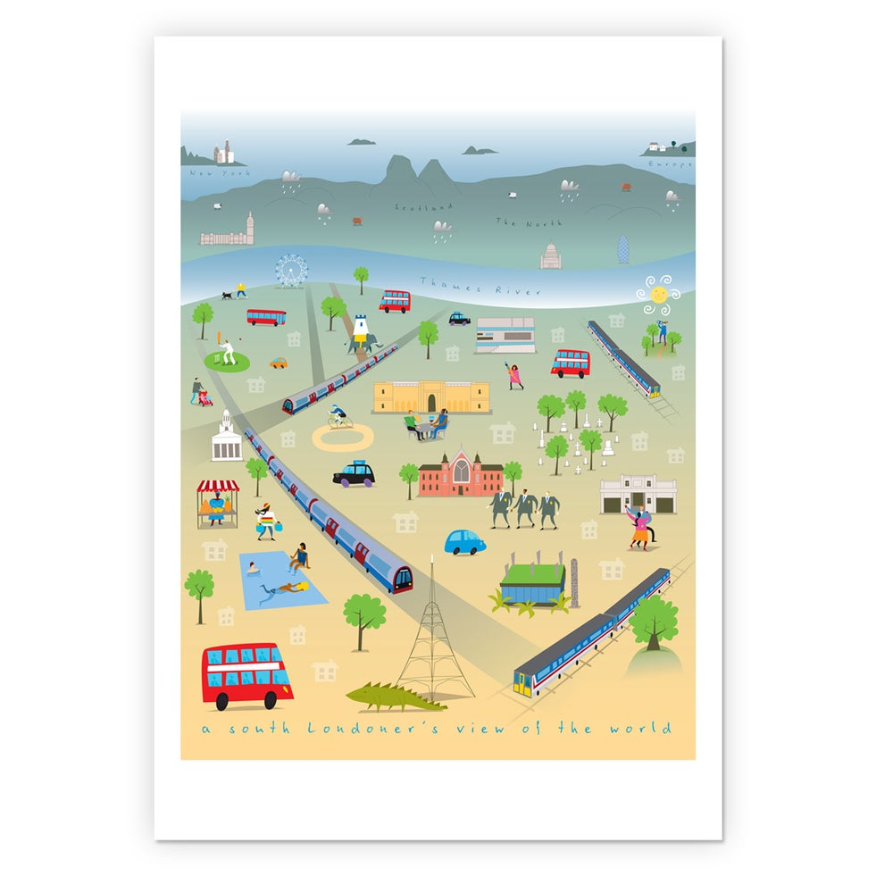 Image of A south Londoner's view of the world by Amanda Lillywhite - A3 digital print