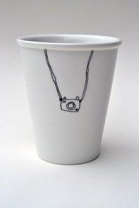 """Image de Gobelet en porcelaine """"appareil photo"""""""