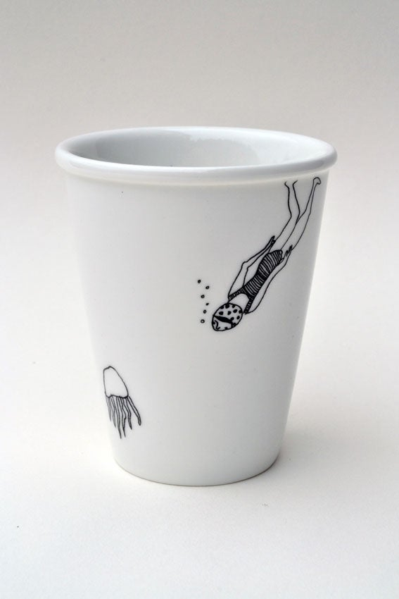 "Image of Gobelet en porcelaine ""Pieuvre"""