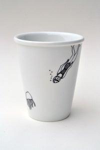 "Image de Gobelet en porcelaine ""Pieuvre"""