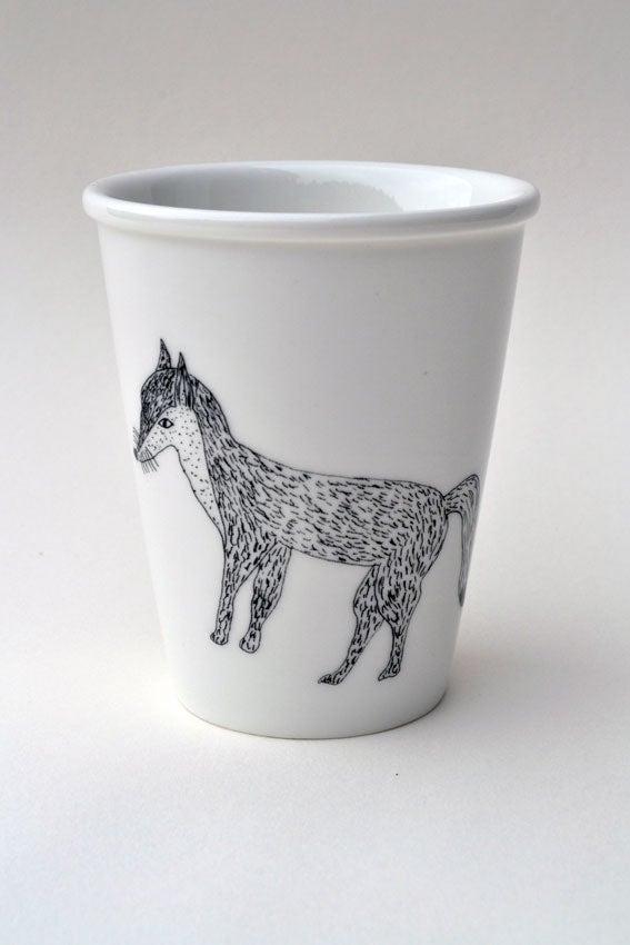 """Image of Gobelet en porcelaine """"Renard"""""""