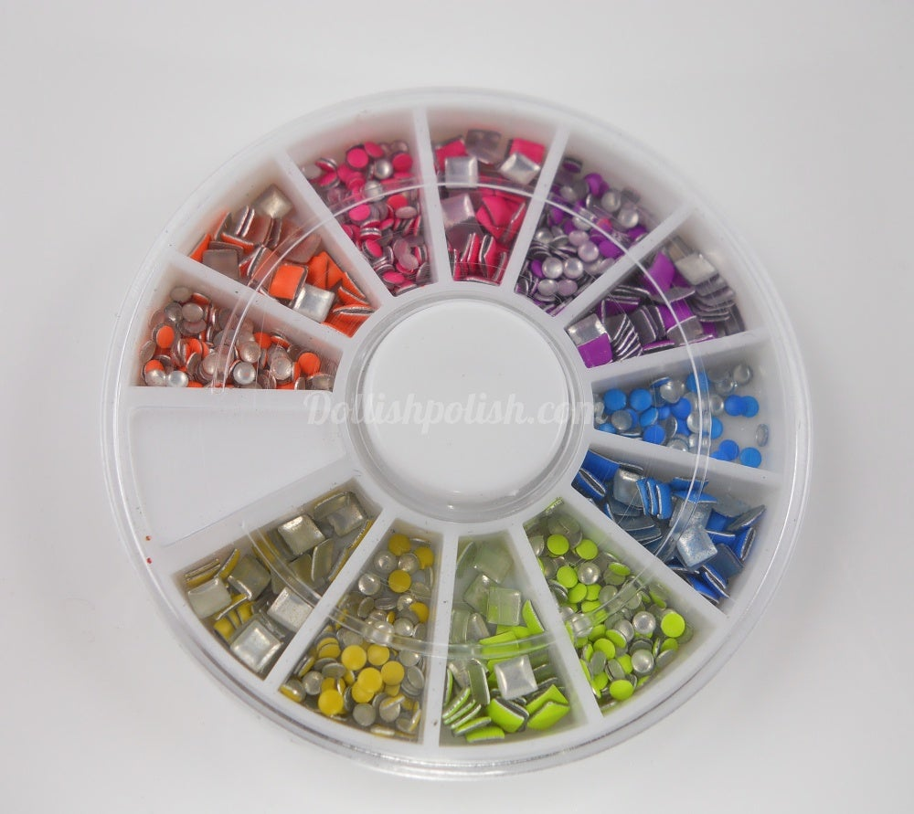 Image of NEON STUD NAIL ART WHEEL - Several Shapes To Choose From!