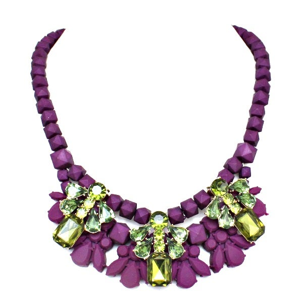 Image of Purple Rage Statement Necklace