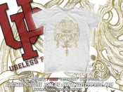 "Image of T-Shirt ""Octo-Pussy"" White/Gold"