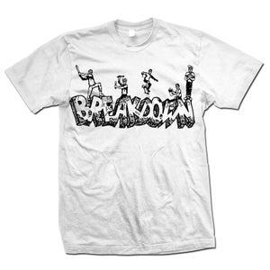 "Image of BREAKDOWN ""Old School"" White T-Shirt"