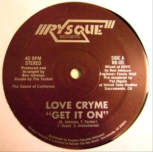 "Image of LOVE CRYME - Get It On / FFFreak - RysQue boogie funk 12"""