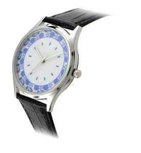Image of Chinese style blue and white porcelain dial quartz watch personality  (WAT0082)