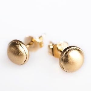 Image of Oorstekers zilver, geel verguld, goudsmid, Antwerpen, unieke juwelen