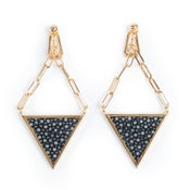Image of Boucles d'oreille Triangle Lover or 2 / Triangle Lover gold earrings 2