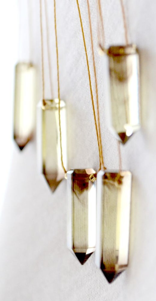 Image of Bi-lemon quartz point necklace