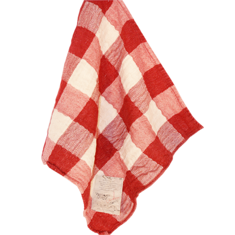 Image of Japanese Vintage Check Towels